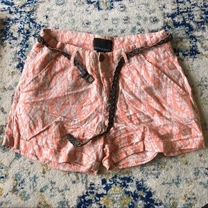 Cynthia Rowley Patterned Linen Short